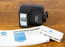 Mint Minolta 280PX Hot Shoe Flash For Minolta X700/570/370 w/case/manual/wide