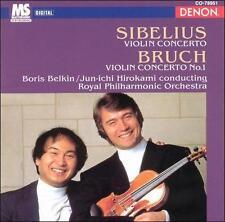 SIBELIUS & BRUCH Violin Concertos Boris BELKIN / Jun Ichi HIROKAMI BRAND NEW