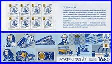 Sweden 1986 Post Anniv. booklet Sc#1589a Mnh Horses, Trains, Helicopters