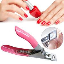 Pro Nail Clipper Cutter 3 Way False Fake Acrylic Manicure Art Uv Gel Tip Salon