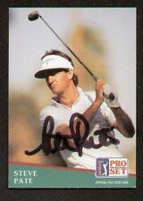 Steve Pate signed autograph 1991 Pro Set Golf No. 84