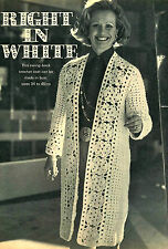 Vintage crochet pattern-how to make a stunning crochet coat for 34-46 in bust
