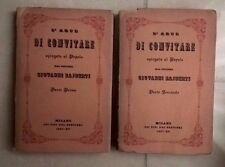 L'ARTE DI CONVITARE SPIEGATA AL POPOLO DAL DOTTORE GIOVANNI RAJBERTI 2 VOL 1937
