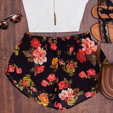 Fashion Womens Summer Casual Shorts Dress High Waist Loose Beach Hot Pants Multicolor L
