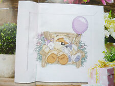 Fizzy Moon & Bunny Cross Stitch Chart Bear Rabbit Present Gift Balloon