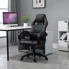 More details for homcom racing swivel office gaming computer chair mesh bucket pu leather