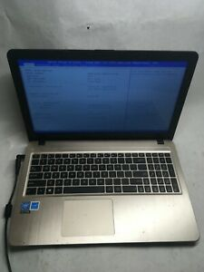 """ASUS X540S 15.6"""" Intel Celeron 1.6 ghz  Laptop  Boots to BIOS NO HDD/Charger JR"""