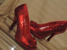 FUNTASMA 10 Stiletto Red  Dorothy Wizard Oz Halloween Costume Sequin Pumps NEW
