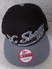 DC Shoes Black Baseball Hat Cap New Era 9Fifty Snapback New