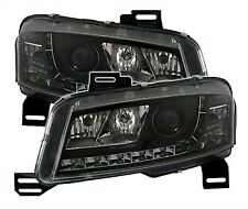 FIAT STILO 192 3 DOOR BLACK DRL HEADLIGHTS HEADLAMPS 10/01-12/07 DAYTIME DRIVING