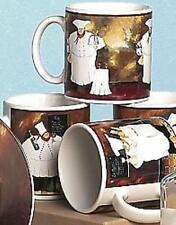 New Sakura AL DENTE Chefs Set of 4 assorted Coffee Mugs in Hat Box