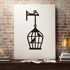 Qualified Delicate Birdcage Vinyl Wall Stickers Home Decor Removable Wall Decal