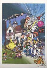 Ex-libris Offset  Luguy, Hommage à la BD Petits Sapristains (Les)