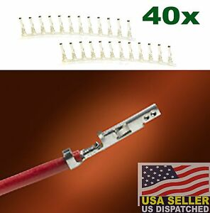 (40 PCS) Molex 5556 Mini Fit Jr Female Pins 39-00-0038 - ATX EPS PCI-E PCIE -