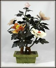 "EXTRAORDINARY  ""Hand Carved Jade Tree in a Jade Pot""  (18"" H x 12"" W x 11.5"" D)"
