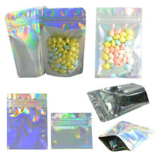 100PCS New Glittery Aluminum Mylar Foil Bags Zip Lock Food Storage Pouch Package