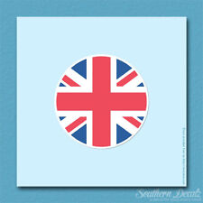 "Britain Flag Circle Union Jack - Vinyl Decal Sticker - c159 - 3.75"" x 3.75"""