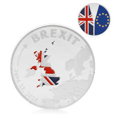 2016 Cook Islands Brexit Silver Plated Commemorative Coins Collection Physical