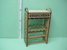 Dollhouse Miniature Wooden Wine Rack wi Removable Tray-1/12th Scale Reduced