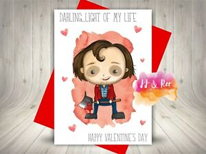 Funny Horror Movie Themed Valentines Card, The Shining, Darling Light of my Life