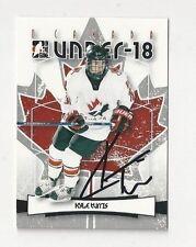 2007 ITG Autographed Hockey Card Kyle Turris Team Canada