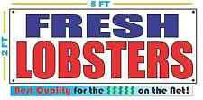 FRESH LOBSTERS Banner Sign NEW Larger Size Best Quality for the $$$ Fish Market