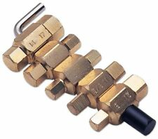 Laser 1580 Drain Plug Key Set 5 piece