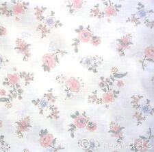 0,5 m  Stoff Baumwolle ♥ Ökotex ♥  Pfingstrosen Röschen Rosen Muster Blumen