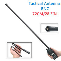 ABBREE 28.3IN BNC Foldable CS Tactical Antenna For ICOM Kenwood CB Two Way Radio