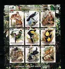 Mauretanien, Vögel | Leopard | Panther | Löwe Kleinbogen Mini Sheet, 2003** MNH