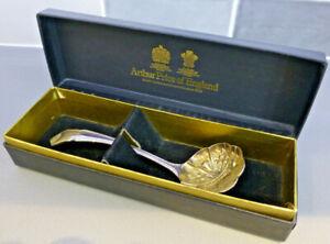Arthur Price Ritz Pattern Berry Spoon / Ladle,  EPNS A1 Silver Plate/ Gilt Bowl