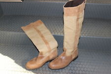 SC60 -STIVALI CAMPER-LEATHER boot  pelle e tela beige NERO n. 40 -