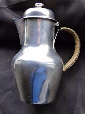 Medium Jug, Sterling Silver French Circa 1900, Whicker Handle, Marked Antique