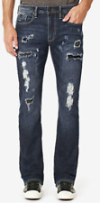 Buffalo David Bitton Men's KING-X Slim Stretch Bootcut Ripped Jeans, 30X30, $129
