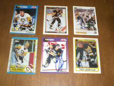 6 AUTOGRAPHED PITTSBURGH PENGUINS HOCKEY CARDS - FRANCIS - LONEY - ERREY