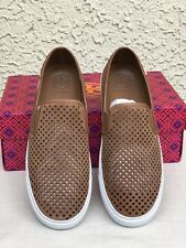 9a4202cdd39e Tory Burch Jesse Perforated Sneaker Size 7.5 Royal Tan
