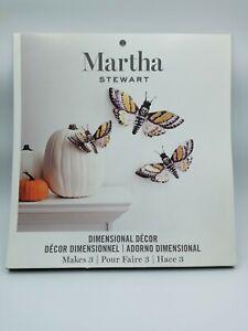 MARTHA STEWART DIMENSIONAL DECOR BUTTERFLIES HALLOWEEN Moth