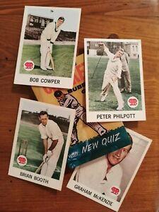Superb Cond. 1965  SCANLENS CRICKET CARDS # 15 16 17 18