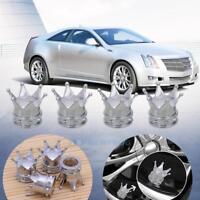 4 Alu Ventilkappen Reifenventilkappen Ventilkäppchen für LKW Auto Reifen Silber