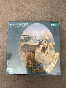 NEW PUZZLE Hautman Brothers Cameo Collection Oval 750 Pc. Our Side of the River