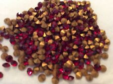 300 rhinestones Red Siam Mixed size Inc Czech Swarovski CRAFT REPAIR 1.3-3.6mm