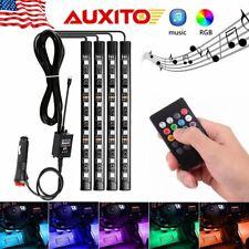 Music RGB Car LED Interior Atmosphere Strip light Sound Remote control lamp
