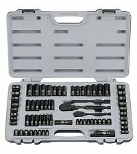 Stanley Black Chrome and Laser Etched 69 Piece Socket Set Ratchet Power Tools