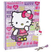 New Sanrio Hello Kitty Locking Diary : Girly Sports purple