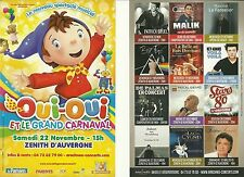 FLYER - OUI OUI : SPECTACLE MUSICAL LIVE 2014 ZENITH AUVERGNE CLERMONT FERRAND