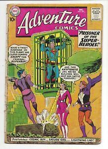 "ADVENTURE COMICS #267 GD ""2nd App Legion Of Superheroes"" Superboy No Restoration"