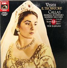 Verdi IL TROVATORE Maria Callas PANERAI Di Stefano von Karajan 2-lp Box (c417)