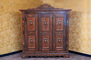 Voglauer Anno 1800 Farmhouse Wardrobe Hallway Cupboard Cottage Antique