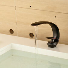"""8"""" Bathroom Sink Faucet Oil Rubbed Bronze One Hole/Handle Lavatory Mixer Tap"""