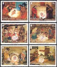 Gibraltar 2002 Navidad Saludos// Natividad/estable/6v Figuras De Cuna Set (n22937)